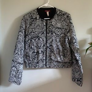 Patterned Black and White Jacket